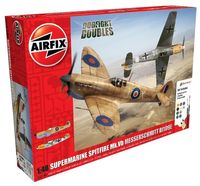 Supermarine Spitfire MkVb and Messerschmitt Bf109E Dogfight Doubles Gift Set 1:48 - Image 1