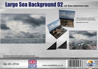 Large Sea Background 02 with attachment clips 420 x 297mm - Image 1