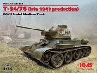 T-34/76 (late 1943 production), WWII Soviet Medium Tank (100% new molds)