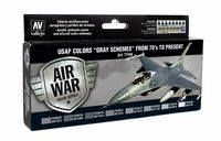 "71156 Air War Color Series - USAF Colors ""Gray Schemes"" from 70s to Present  Set"