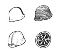 US WW II Helmets (6 pcs)