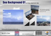 Sea Background 01  with attachment clips 297 x 210mm - Image 1