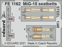 MiG-15 seatbelts STEEL BRONCO / HOBBY 2000
