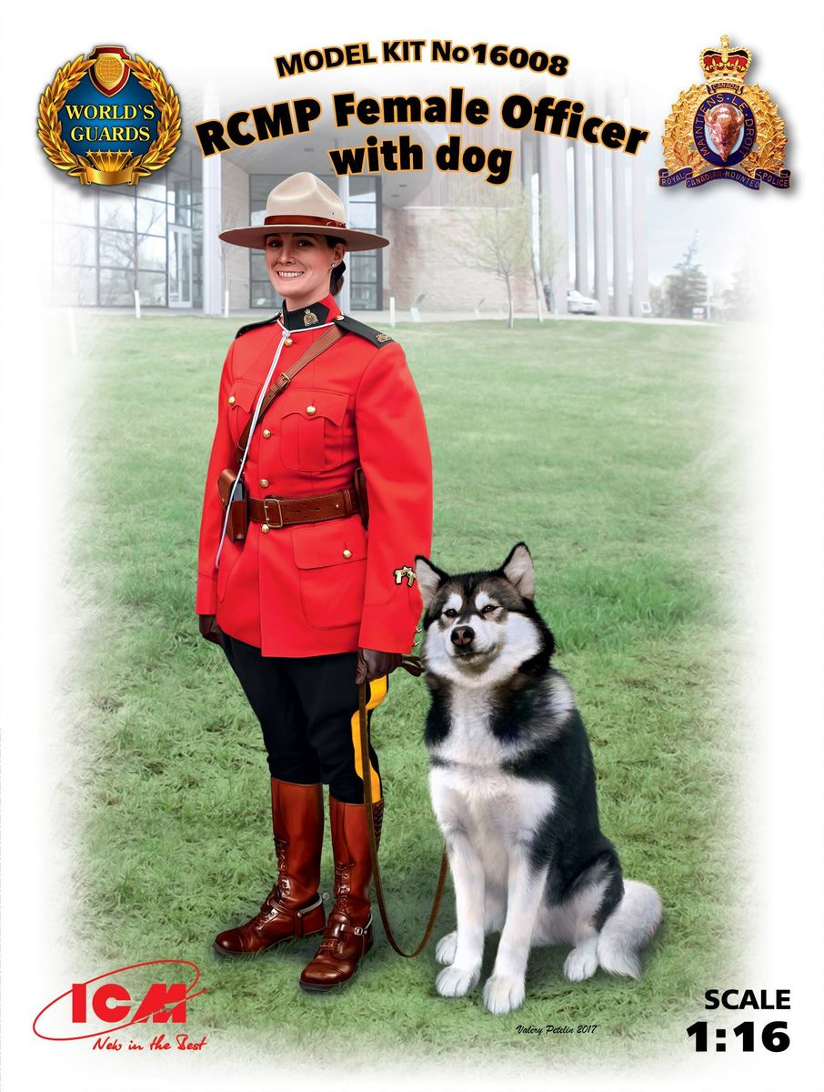 RCMP Female Officer with dog - Image 1