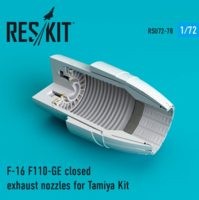 F-16 F110-GE closed exhaust nozzles for Tamiya Kit