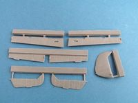 Bf 109 E control surfaces for Airfix