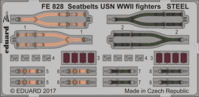 Seatbelts USN WWII fighters STEEL REVELL