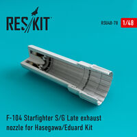 F-104 Starfighter (S/G Late) exhaust nozzle for Hasegawa/Eduard Kit - Image 1
