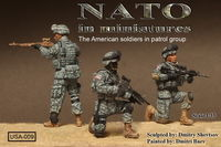 The American soldiers in patrol group 3 figures - Image 1
