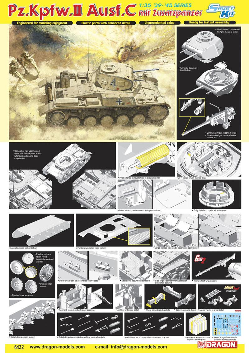 Pz C Puertas Exterior: Pz.Kpfw.II Ausf.C Mit Zusatzpanzer Model Do Sklejania