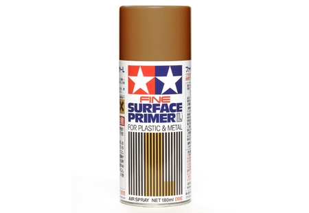 Fine Surface Primer L for Plastic Metal (Oxide Red) Spray - Image 1