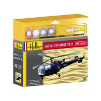 French Helicopter SA 316/319 Alouette III Gift Set (paints and glue)