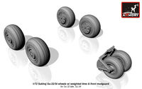 Sukhoj Su-32/34 wheels w/ weighted tires, front mudguard - Image 1