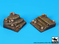 Stairs with skulls for 75 mm figures (50x50/55x55 mm)