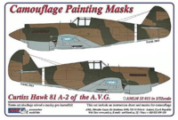 Camouflage painting masks Curtiss Hawk 81-A2 of China AF WWII