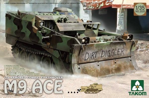 TAKOM 2020 1//35 U.S Armored Combat Earthmover M9 ACE