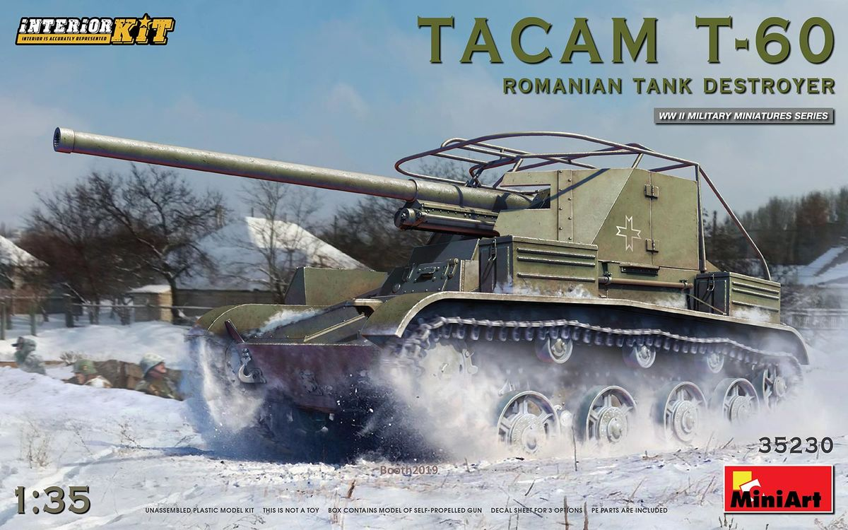 TACAM T-60 Romanian Tank Destroyer Interior included - Image 1