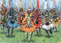Samurai warriors cavalry
