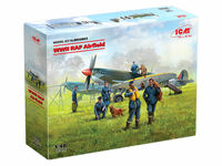 WWII RAF Airfield (Spitfire Mk.IX, Spitfire Mk.VII, RAF Pilots and Ground Personnel ) (7 figures) - Image 1