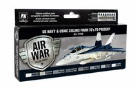 71155 Air War Color Series - US Navy & USMC Colors from 70s to Present Set