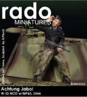 Achtung Jabo ! W-SS NCO w/ MP40,1944