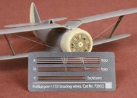 Polikarpov I-153 Chaika rigging wire set - Image 1