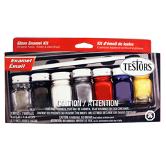 9115 Gloss Enamel 7-bottle Paint Kit - Image 1