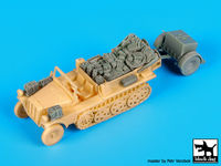 Sd.Kfz 10 with Sd.Ah.32 accessories set for MK 72 - Image 1