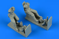 Soviet WWII Pilot and Gunner for Il-2m3 Sturmovik wit seat Figurines TRUMPETER - Image 1