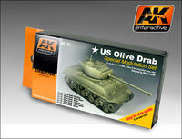 AK 131 Olive Drab color modulation Set - Image 1