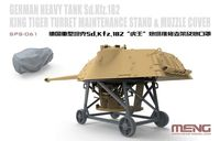 German Heavy Tank Sd.Kfz.182 King Tiger Turret Maintence Stand & Muzzle Cover