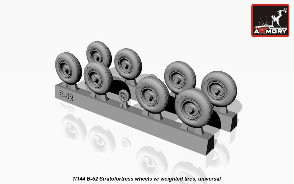 Boeing B-52 wheels, weighted - Image 1