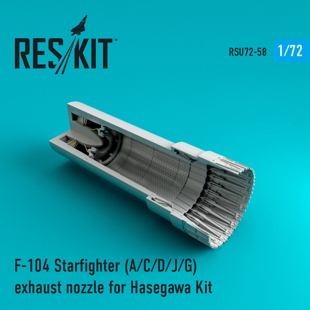 F-104 Starfighter (A/C/D/J/G) exhaust nozzle for Hasegawa Kit - Image 1