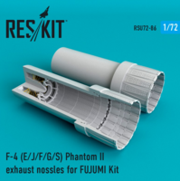 F-4 Phantom II (E/J/F/G/S) exhaust nossles for  FUJIMI  Kit