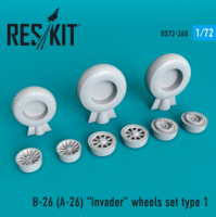 B-26 (A-26)  Invader wheels set type 1
