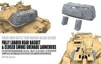 Fully Loaded Rear Basket and Closed Smoke Grenade Launchers - Israel Main Battle Tank Magach 6B Gal Batash