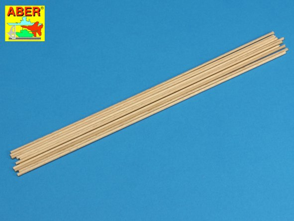 Wood round rods 2,00 mm lenght 250 mm x 10 pcs - Image 1