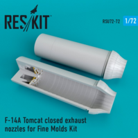 F-14A Tomcat closed exhaust nozzles for Fine Molds Kit