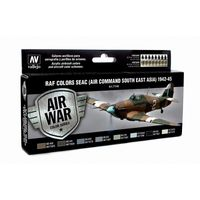 71146 Air War Color Series - RAF Colors SEAC (Air Command South East Asia) 1942-45 Set