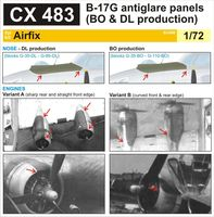 B-17G antiglare panels (BO & DL production)   AIRFIX - Image 1
