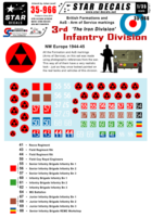 British 3rd Infantry Division Formation & AoS markings. - Image 1