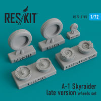 A-1 Skyraider late version wheels set - Image 1
