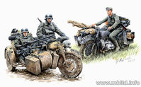 """Kradschutzen: German Motorcycle Troops on the Move"""