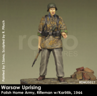Warsaw Uprising Polish Home Army,Rifleman w/Kar98k, 1944