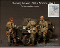 """Checking the Map - 101st Airborne, WWII"" - Image 1"