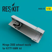 Mirage 2000 exhaust nozzles for KITTY HAWK KIT
