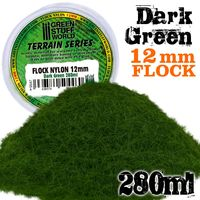 Static Grass Flock 12mm - Dark Green - 280 ml - Image 1