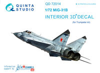 MiG-31B  3D-Printed & coloured Interior on decal paper - Image 1