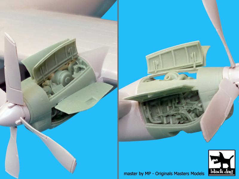 AC-130H Hercules 2 Engines for Italeri - Image 1