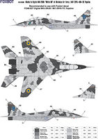 Digital Masks for MiG-29UB, Ukranian Air Forces, digital camouflage (Use & Foxbot Decal)